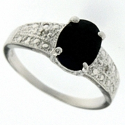 1.69ctw Sapphire and Diamond Ring in Sterling Silver