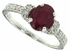 1.76ctw Glass Filled Ruby Ring in Sterling Silver