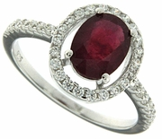 1.77ctw Glass Filled Ruby Ring in Sterling Silver