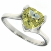 1.78ctw Lemon Quartz Ring in Sterling Silver