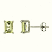 1.80ctw Lemon Quartz Stud Earrings in Sterling Silver