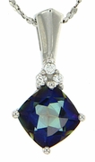 "1.83ctw Mystic Blueish Pendant in Sterling Silver with 18"" Chain"