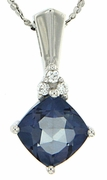 "1.83ctw Mystic Iolite Blue Pendant in Sterling Silver with 18"" Chain"