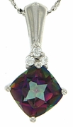 """1.83ctw Mystic Pendant in Sterling Silver with 18"""" Chain"""