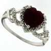1.90ctw Ruby and Diamond Ring in Sterling Silver