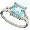 1.90ctw Sky Topaz and White Sapphire Ring in Sterling Silver