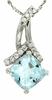 "1.90ctw Sky Topaz Pendant in Sterling Silver with 18"" Chain"