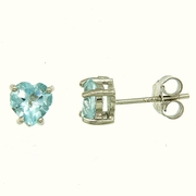 1.90ctw Sky Topaz Stud Earrings in Sterling Silver