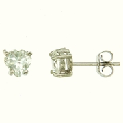 1.90ctw White Topaz Stud Earrings in Sterling Silver