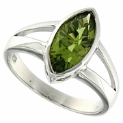 1.94ctw Peridot Ring in Sterling Silver
