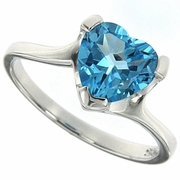 1.95ctw Swiss Blue Topaz Ring in Sterling Silver