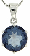 "10.30ctw Mystic Iolite Blue Pendant in Sterling Silver with 18"" Chain"