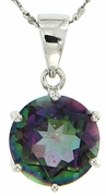 """10.30ctw Mystic Pendant in Sterling Silver with 18"""" Chain"""