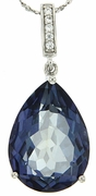 "13.56ctw Mystic Iolite Blue Pendant in Sterling Silver with 18"" Chain"