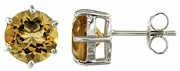 14.15ctw Citrine Earrings in Sterling Silver