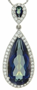 "15.02ctw Mystic Blueish Pendant in Sterling Silver with 18"" Chain"