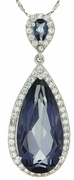 "15.02ctw Mystic Iolite Blue Pendant in Sterling Silver with 18"" Chain"