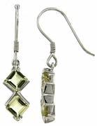 2.00ctw Lemon Quartz Earrings in Sterling Silver