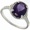 2.02ctw Amethyst and Diamond Ring in Sterling Silver