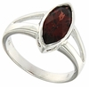 2.04ctw Garnet Ring in Sterling Silver