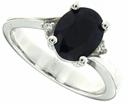 2.05ctw Diffusion Sapphire Ring in Sterling Silver
