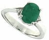 2.05ctw Emerald Ring in Sterling Silver