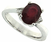2.05ctw Glass Filled Ruby Ring in Sterling Silver
