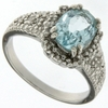 2.13ctw Sky Topaz and Diamond Ring in Sterling Silver