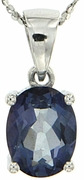 "2.14ctw Mystic Iolite Blue Pendant in Sterling Silver with 18"" Chain"