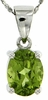 "2.14ctw Peridot Pendant in Sterling Silver with 18"" Chain"