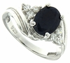 2.15ctw Diffusion Sapphire Ring in Sterling Silver