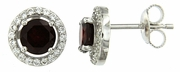 2.15ctw Garnet Earrings in Sterling Silver