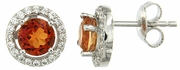 2.15ctw Mystic Sunstone with CZ Earrings in Sterling Silver