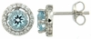 2.15ctw Sky Topaz with CZ Earrings in Sterling Silver