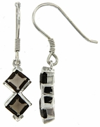 2.20ctw Smokey Quartz Earrings in Sterling Silver