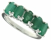 2.21ctw Emerald Ring in Sterling Silver