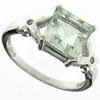 2.25ctw Green Amethyst and White Sapphire Ring in Sterling Silver