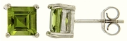 2.26ctw Peridot Earrings in Sterling Silver