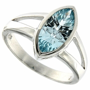 2.26ctw Sky Topaz Ring in Sterling Silver
