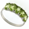 2.29ctw Peridot Ring in Sterling Silver