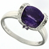 2.30ctw Amethyst and Diamond Ring in Sterling Silver