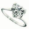 2.36ctw White Topaz and Diamond Ring in Sterling Silver