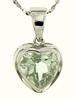 """2.37ctw Green Amethyst Pendant in Sterling Silver with 18"""" Chain"""
