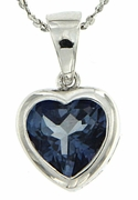 "2.37ctw Mystic Iolite Blue Pendant in Sterling Silver with 18"" Chain"
