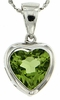 "2.37ctw Peridot Pendant in Sterling Silver with 18"" Chain"