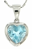 "2.37ctw Sky Topaz Pendant in Sterling Silver with 18"" Chain"
