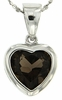 "2.37ctw Smokey Quartz Pendant in Sterling Silver with 18"" Chain"