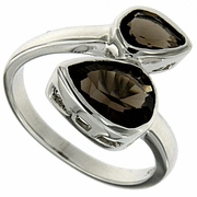 2.38ctw Smoky Topaz Ring in Sterling Silver