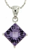 "2.43ctw Amethyst Pendant in Sterling Silver with 18"" Chain"