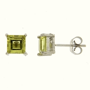 2.43ctw Lemon Quartz Stud Earrings in Sterling Silver